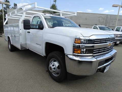 2017 Silverado 3500 Regular Cab DRW 4x2,  Royal Service Body #172239 - photo 4