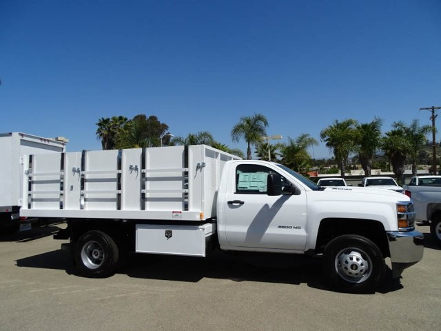 2018 Silverado 3500 Regular Cab DRW, Harbor Master Landscaper Landscape Dump #180354 - photo 3