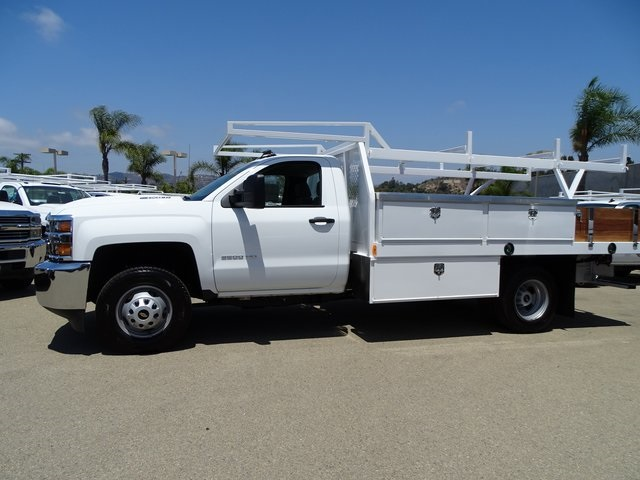 2018 Silverado 3500 Regular Cab DRW 4x2,  Harbor Contractor Body #181991 - photo 3
