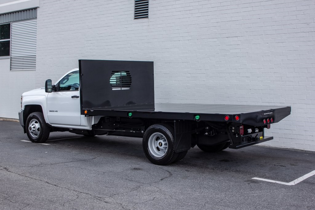 2018 Silverado 3500 Regular Cab DRW 4x2,  Monroe Platform Body #FK6007 - photo 2