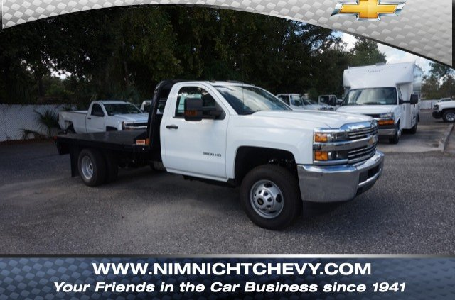 2018 Silverado 3500 Regular Cab DRW 4x2,  CM Truck Beds RD Model Platform Body #8C1028 - photo 1