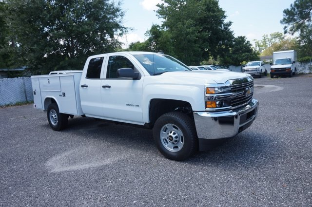 2018 Silverado 2500 Double Cab 4x4,  Reading SL Service Body #8C1176 - photo 4