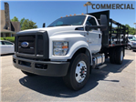 2018 F-750 Regular Cab DRW 4x2,  HFI Truck Center Stake Bed #JDF04095 - photo 1