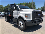 2018 F-750 Regular Cab DRW 4x2,  Default HFI Truck Center Stake Bed #JDF04095 - photo 10