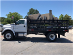 2018 F-750 Regular Cab DRW 4x2,  Default HFI Truck Center Stake Bed #JDF04095 - photo 3