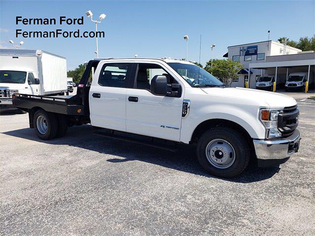 2021 Ford F-350 Crew Cab DRW 4x2, Monroe Platform Body #21F176 - photo 1