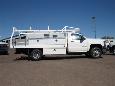 2017 Silverado 3500 Regular Cab DRW, Royal Contractor Bodies Contractor Body #HF180282 - photo 3