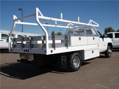 2017 Silverado 3500 Regular Cab DRW, Royal Contractor Bodies Contractor Body #HF180282 - photo 5