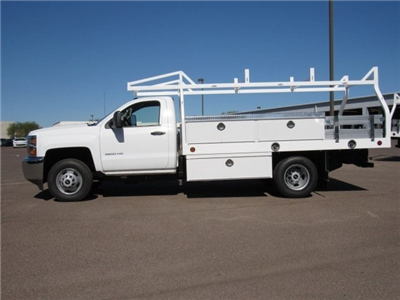 2017 Silverado 3500 Regular Cab DRW, Royal Contractor Bodies Contractor Body #HF180282 - photo 7