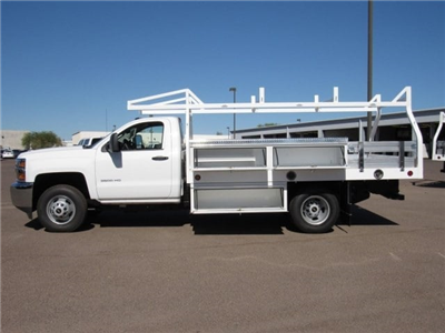 2017 Silverado 3500 Regular Cab DRW, Royal Contractor Bodies Contractor Body #HF180282 - photo 8