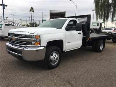 2017 Silverado 3500 Regular Cab DRW, CM Truck Beds PL Model Platform Body #HF215333 - photo 1
