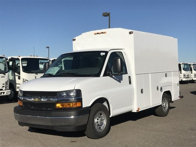 2018 Express 3500 4x2,  Harbor WorkMaster Service Utility Van #J1311169 - photo 1