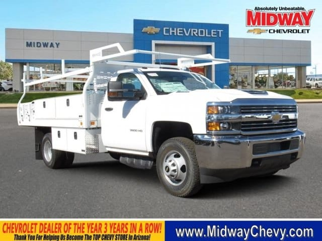2018 Silverado 3500 Regular Cab DRW 4x2,  Knapheide Contractor Bodies Contractor Body #JF133639 - photo 21