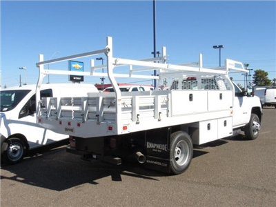 2018 Silverado 3500 Regular Cab DRW 4x2,  Knapheide Contractor Bodies Contractor Body #JF133639 - photo 4