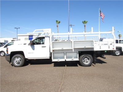 2018 Silverado 3500 Regular Cab DRW 4x2,  Knapheide Contractor Body #JF133639 - photo 6