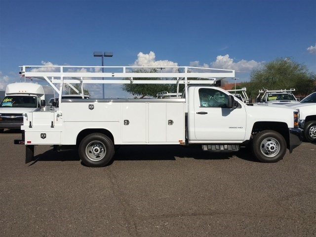 2018 Silverado 3500 Regular Cab DRW 4x2,  Harbor ComboMaster Combo Body #JF278803 - photo 3