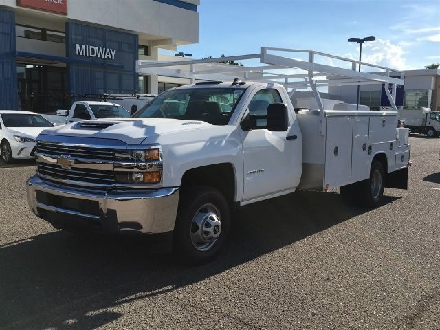 2018 Silverado 3500 Regular Cab DRW 4x2,  Harbor ComboMaster Combo Body #JF278803 - photo 1