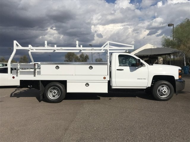 2019 Silverado 3500 Regular Cab DRW 4x2,  Royal Contractor Body #KF120173 - photo 3