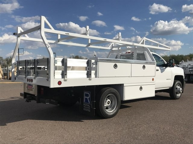 2019 Silverado 3500 Regular Cab DRW 4x2,  Royal Contractor Body #KF122407 - photo 3