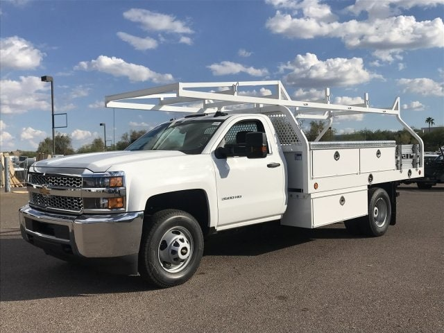 2019 Silverado 3500 Regular Cab DRW 4x2,  Royal Contractor Body #KF122407 - photo 1