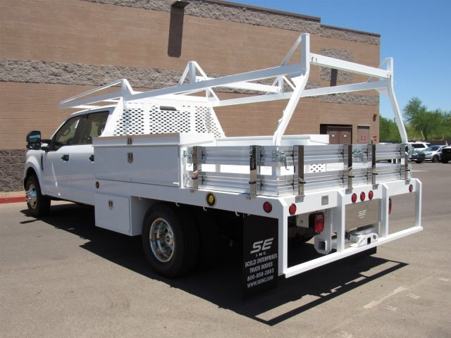 2017 F-350 Crew Cab DRW, Scelzi Contractor Flatbed Contractor Body #HED88274 - photo 4