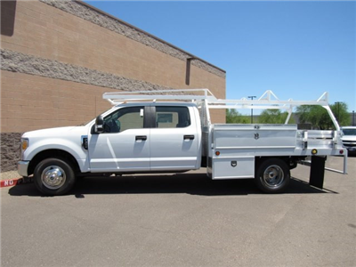 2017 F-350 Crew Cab DRW, Scelzi Contractor Flatbed Contractor Body #HED88274 - photo 3