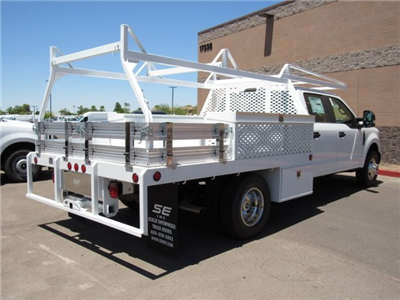 2017 F-350 Crew Cab DRW, Scelzi Contractor Flatbed Contractor Body #HED88274 - photo 2