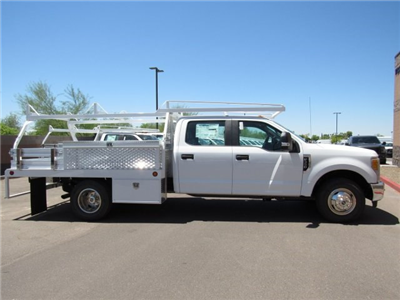 2017 F-350 Crew Cab DRW, Scelzi Contractor Flatbed Contractor Body #HED88274 - photo 5