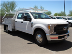 2017 F-350 Crew Cab DRW, Scelzi Contractor Flatbed Contractor Body #HED88274 - photo 1