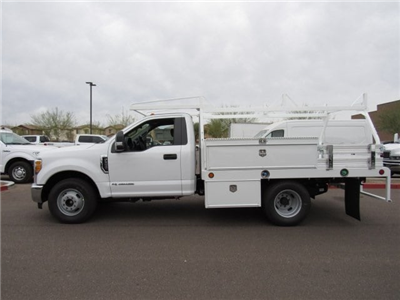 2017 F-350 Regular Cab DRW, Scelzi Contractor Flatbed Contractor Body #HEF23912 - photo 3
