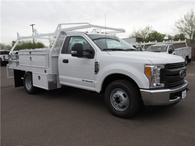 2017 F-350 Regular Cab DRW, Scelzi Contractor Flatbed Contractor Body #HEF23912 - photo 1