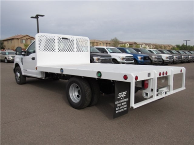 2017 F-350 Regular Cab DRW 4x2,  Scelzi Western Flatbed Platform Body #HEF40815 - photo 4