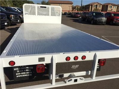 2017 F-550 Regular Cab DRW, Scelzi Western Flatbed Platform Body #HEF40829 - photo 11