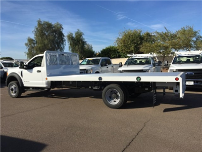 2017 F-550 Regular Cab DRW, Scelzi Western Flatbed Platform Body #HEF40829 - photo 3