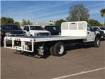 2017 F-550 Regular Cab DRW, Scelzi Western Flatbed Platform Body #HEF40829 - photo 2