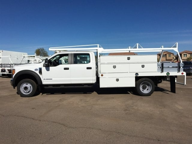 2017 F-550 Crew Cab DRW, Scelzi Contractor Flatbed Contractor Body #HEF40835 - photo 3