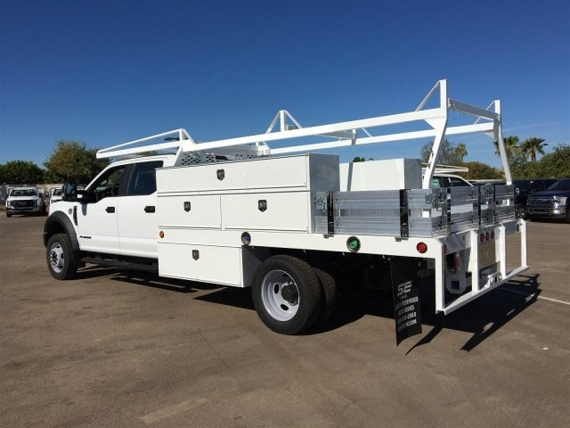 2017 F-550 Crew Cab DRW, Scelzi Contractor Flatbed Contractor Body #HEF40835 - photo 4