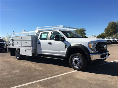 2017 F-550 Crew Cab DRW, Scelzi Contractor Flatbed Contractor Body #HEF40835 - photo 1