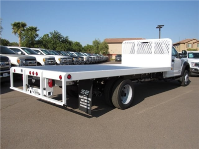 2017 F-550 Regular Cab DRW, Scelzi Western Flatbed Platform Body #HEF50491 - photo 2