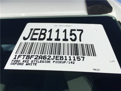 2018 F-250 Regular Cab, Pickup #JEB11157 - photo 21