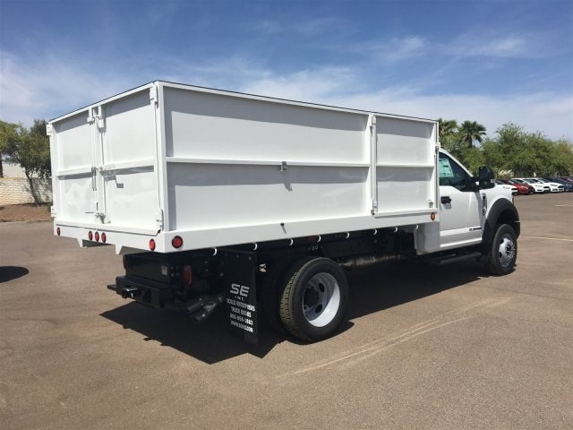 2018 F-550 Regular Cab DRW, Scelzi Landscaper Bodies Landscape Dump #JEB75160 - photo 2