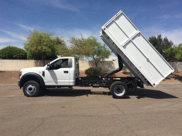 2018 F-550 Regular Cab DRW, Scelzi Landscaper Bodies Landscape Dump #JEB75160 - photo 5