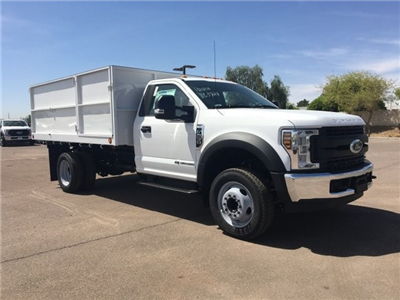 2018 F-550 Regular Cab DRW, Scelzi Landscaper Bodies Landscape Dump #JEB75160 - photo 1