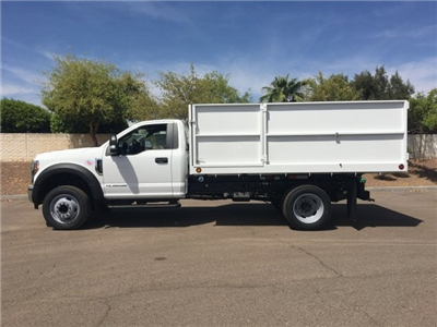 2018 F-550 Regular Cab DRW, Scelzi Landscaper Bodies Landscape Dump #JEB75160 - photo 3