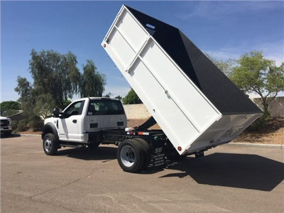2018 F-550 Regular Cab DRW, Scelzi Landscaper Bodies Landscape Dump #JEB75160 - photo 6