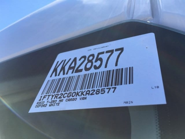 2019 Transit 250 Med Roof 4x2,  Empty Cargo Van #KKA28577 - photo 20