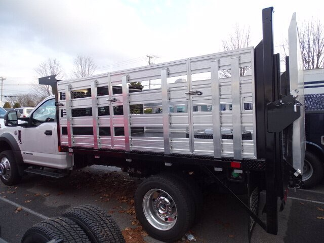 2019 F-550 Regular Cab DRW 4x4, SH Truck Bodies Stake Bed #CR6290 - photo 2