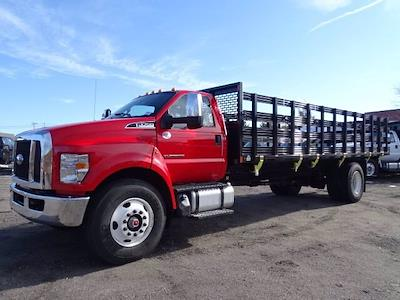 2021 Ford F-750 Regular Cab DRW 4x2, SH Truck Bodies Stake Bed #CR8041 - photo 1