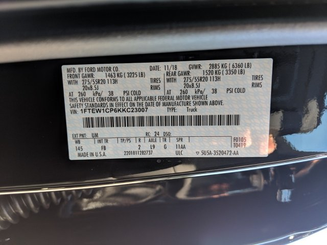2019 F-150 SuperCrew Cab 4x2,  Pickup #K1014 - photo 28