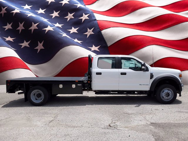 2020 Ford F-550 Crew Cab DRW 4x4, Bedrock Diamond Series Flatbed Body #L3464 - photo 1